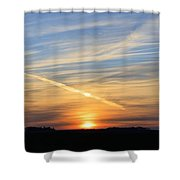 Iowa Sunrise Shower Curtain