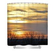 Iowa Sunrise Panorama Shower Curtain
