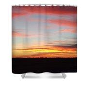 Iowa Sunset Shower Curtain