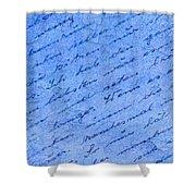 Iphone Case Blue Handwriging Shower Curtain