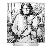 iPhone-Case-Geronimo Shower Curtain