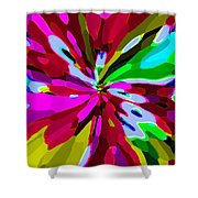 Iphone Cases Colorful Flowers Abstract Roses Gardenias Tiger Lily Florals Carole Spandau Cbs Art 179 Shower Curtain by Carole Spandau