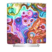 Iphone Colorful Abstract Shower Curtain