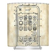 iPhone Patent - Vintage Shower Curtain