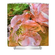 Iphone Pink Rose Digital Paint Shower Curtain