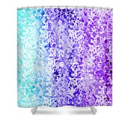Iphone Purple And Blue Abstract Shower Curtain