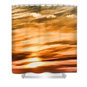 Iphone Sunset Digital Paint Shower Curtain