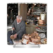 Iran Isfahan Copper Artisan Shower Curtain