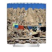 Iran Kandovan Stone Village Laundry Shower Curtain
