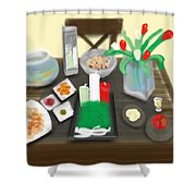 Iran Persian New Year Shower Curtain
