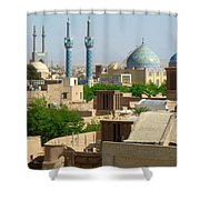 Iran Yazd From The Rooftops  Shower Curtain