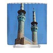 Iran Yazd Mosque Spires  Shower Curtain