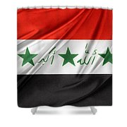Iraq Flag Shower Curtain by Les Cunliffe