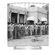 Iraqis Salute King Faisal Shower Curtain