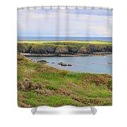Ireland Coastline Panorama Shower Curtain