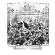 Ireland Election, 1857 Shower Curtain