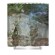 Ireland Ghostly Grave Shower Curtain by First Star Art
