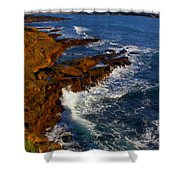 Ireland Rocky Coast Shower Curtain