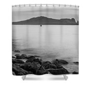 Ireland's Eye In Black And White Shower Curtain