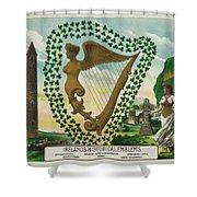 Irelands Historical Emblems Shower Curtain