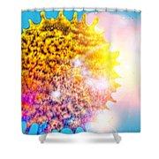 Iridescent Sun Shower Curtain