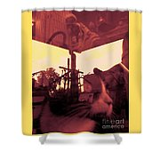 Irie Mechanical 2 Shower Curtain