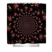 Iris And Foliage Shower Curtain