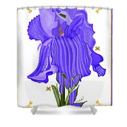 Iris And Old Lace Shower Curtain