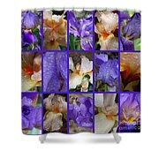 Iris Collage Shower Curtain