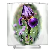 Iris Congratulations Card Shower Curtain