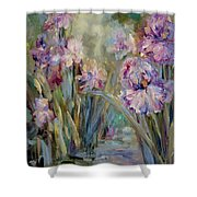 Iris Garden Shower Curtain