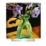 Irises In Morning Light Shower Curtain