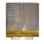 Irish Blessing Double Rainbow 07 11 14 Shower Curtain