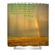 Irish Blessing Rain On The Prairie Shower Curtain
