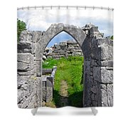 Irish Church Ruins Shower Curtain