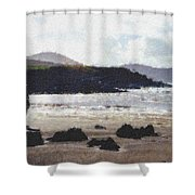 Irish Coast Pastel Chalk Shower Curtain