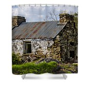 Irish Cottage Ruins Shower Curtain