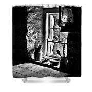 Irish Cottage Window Shower Curtain