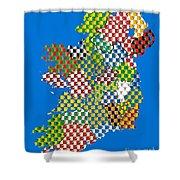 Irish County Gaa Flags Shower Curtain