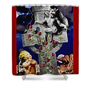 Irish Devil Shower Curtain