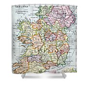 Irish Free State And Northern Ireland From Bacon S Excelsior Atlas Of The World Shower Curtain