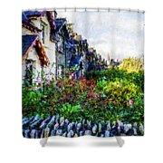 Irish Garden Water Color Shower Curtain
