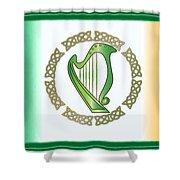 Irish Harp Shower Curtain