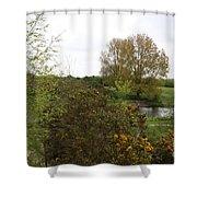 Irish Landscape In Spring Shower Curtain