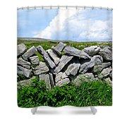 Irish Stone Wall Shower Curtain