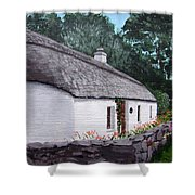 Irish Thatched Cottage Shower Curtain