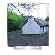 Irish Thatched Roof Cottage Shower Curtain