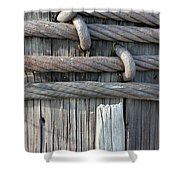 Iron And Wood Shower Curtain