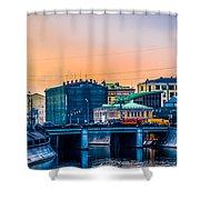 Iron Bridge Panorama Shower Curtain