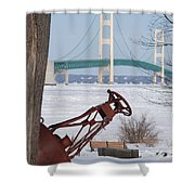 Iron Buoy And Mighty Mac Shower Curtain